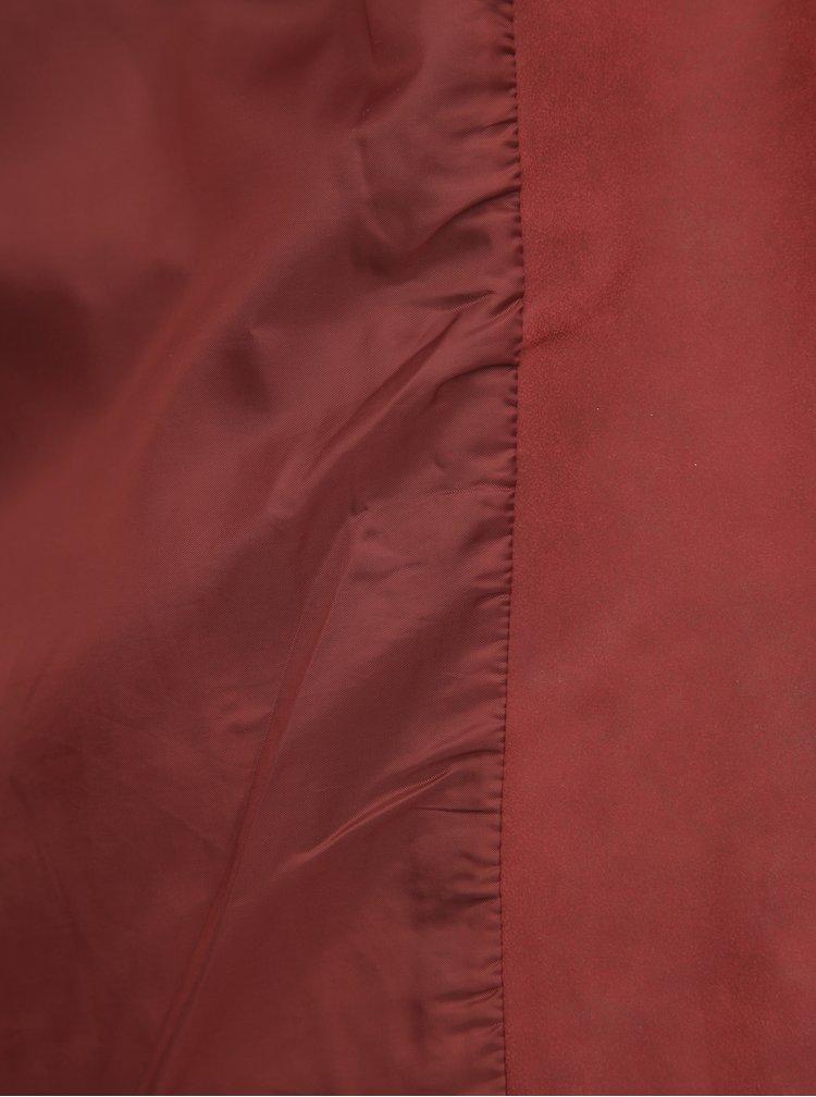 Červený koženkový křivák ONLY CARMAKOMA Avana