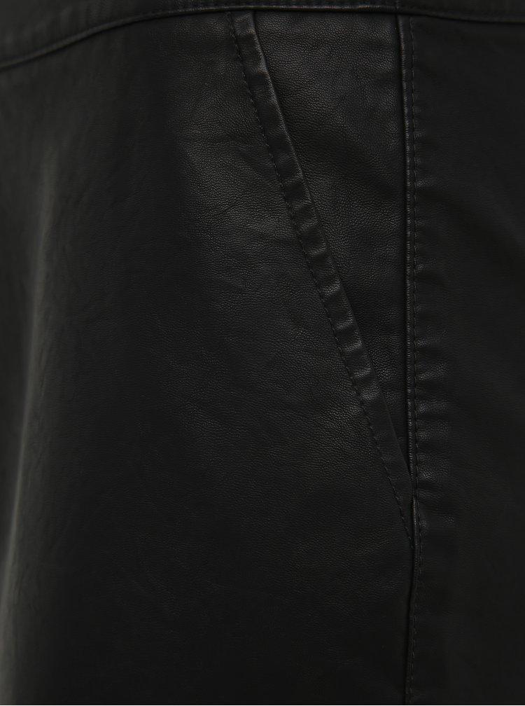 Černá koženková pouzdrová sukně Noisy May Wren