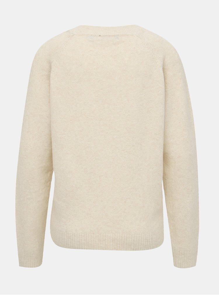 Krémový basic sveter VERO MODA Doffy
