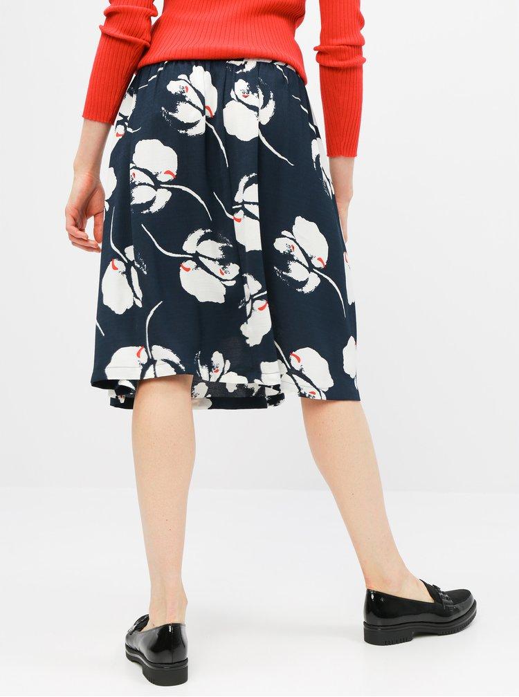 Tmavě modrá květovaná sukně Jacqueline de Yong Layla