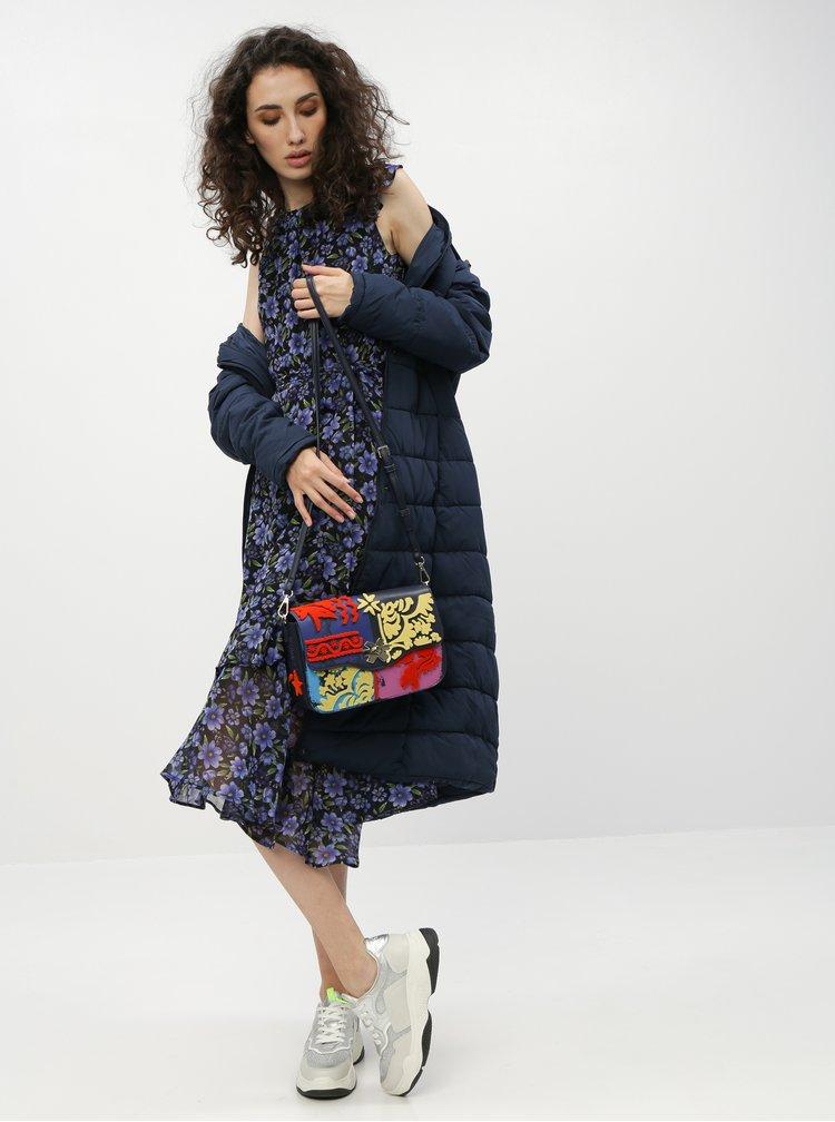 Tmavě modrý prošívaný zimní kabát Jacqueline de Yong Kammi