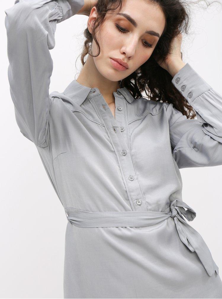 Šedé košeľové šaty VILA Tenna