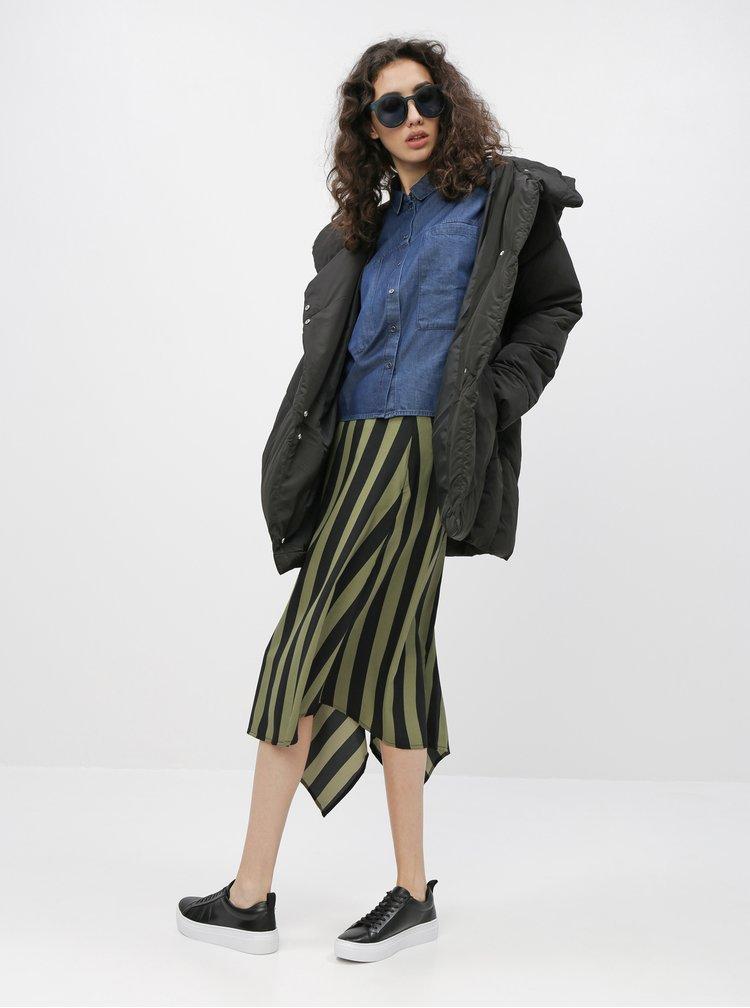 Černá prošívaná zimní bunda Jacqueline de Yong Lidya
