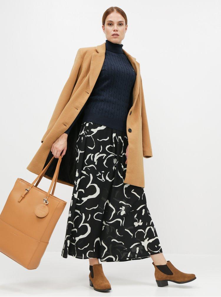 Černá vzorovaná maxi sukně VERO MODA Ilona