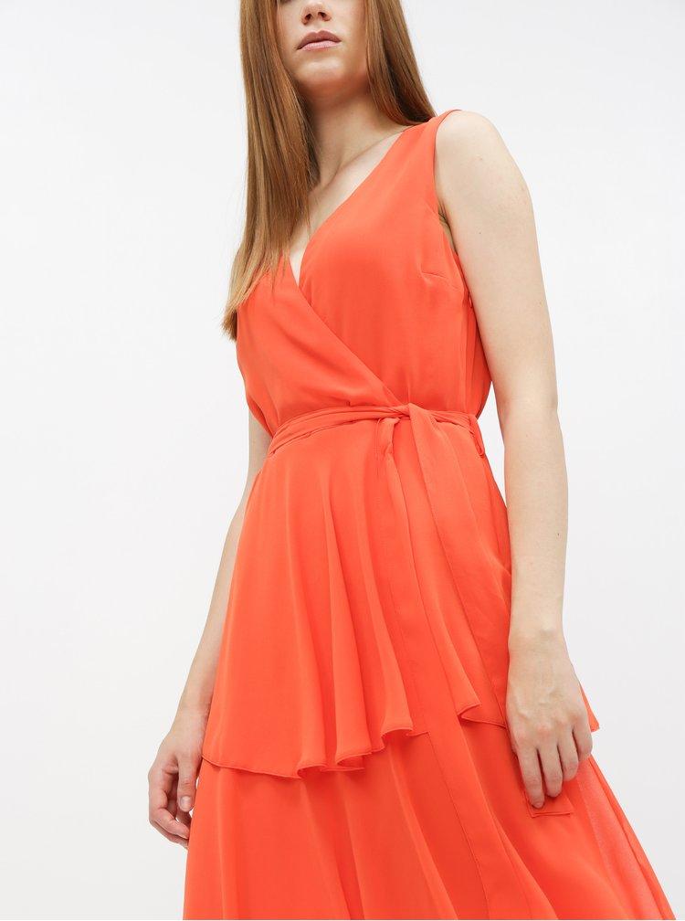 Oranžové midišaty Dorothy Perkins