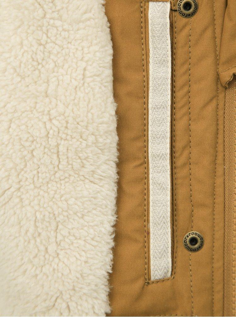 Hnědá dámská zimní bunda Ragwear Ewok