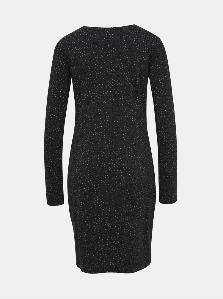 Čierne vzorované šaty Ragwear River