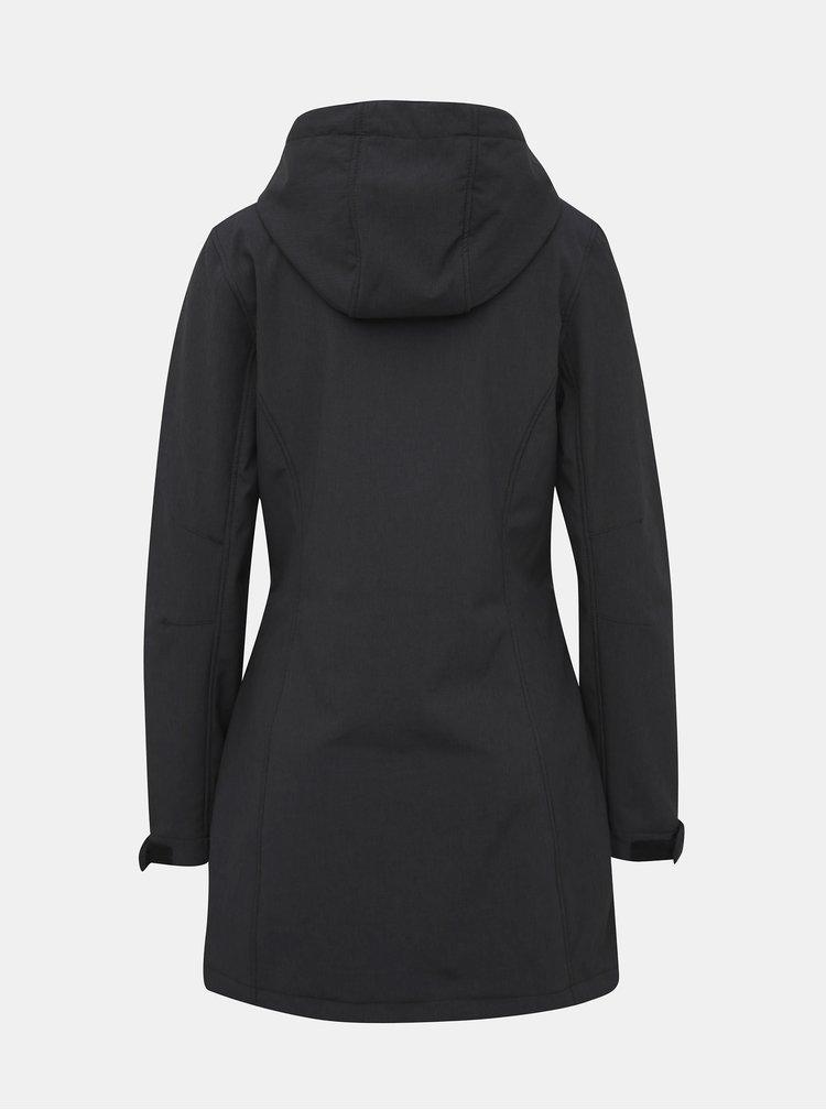 Tmavošedý dámsky softshellový nepromokavý kabát LOAP Lydie