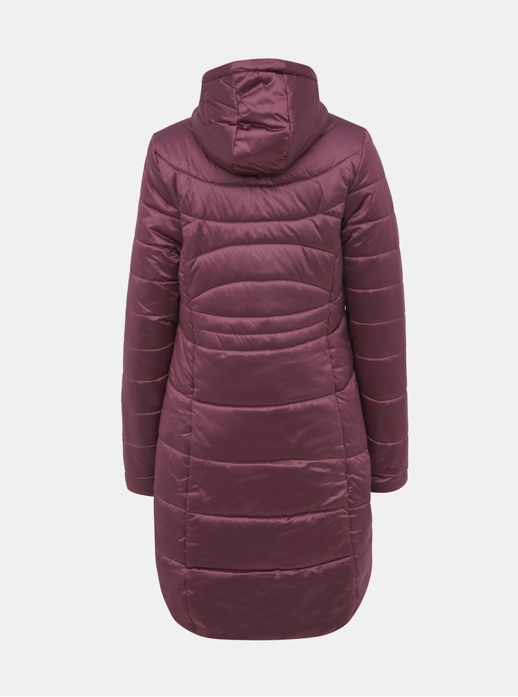 Fialový dámsky zimný prešívaný vodeodpudivý kabát LOAP Takita