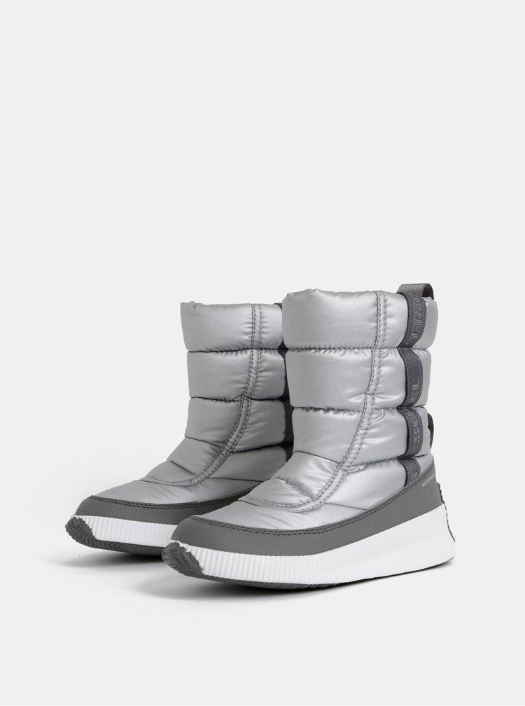 Dámské zimní nepromokavé boty ve stříbrné barvě SOREL OUT N ABOUT