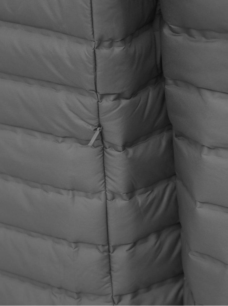 Šedá pánska prešívaná vodeodpudivá zimná bunda LOAP Iten