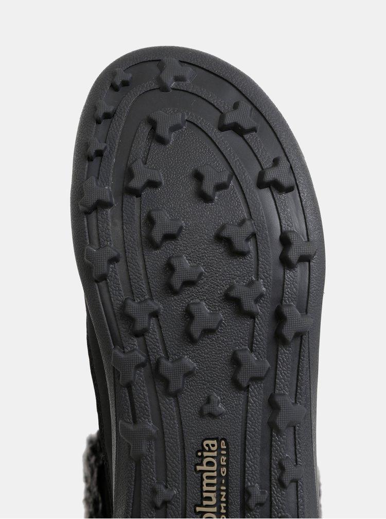 Čierne dámske zimné nepromokavé topánky Columbia Heavenly