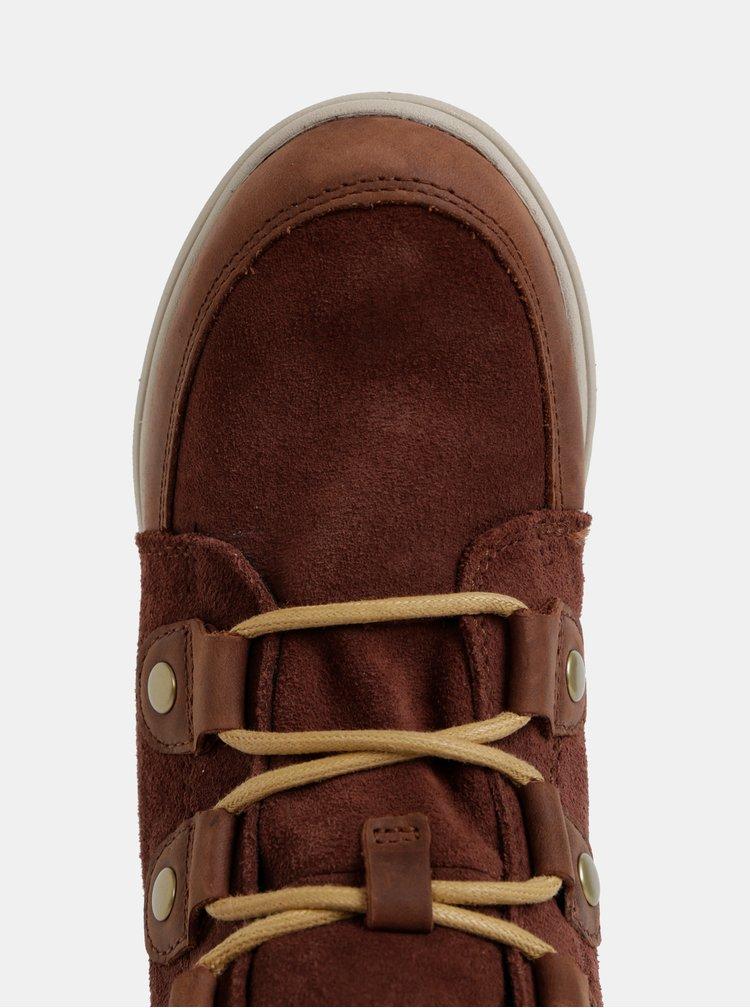 Hnědé dámské semišové zimní nepromokavé boty SOREL Explorer