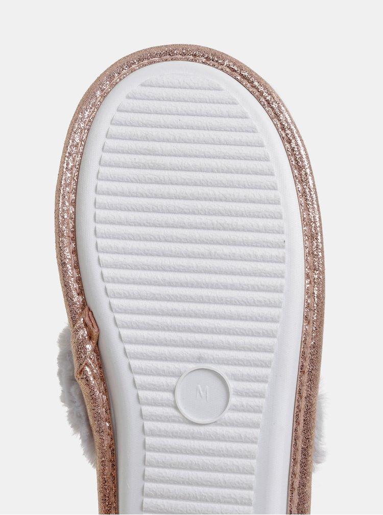 Šedé vzorované pantofle Dorothy Perkins