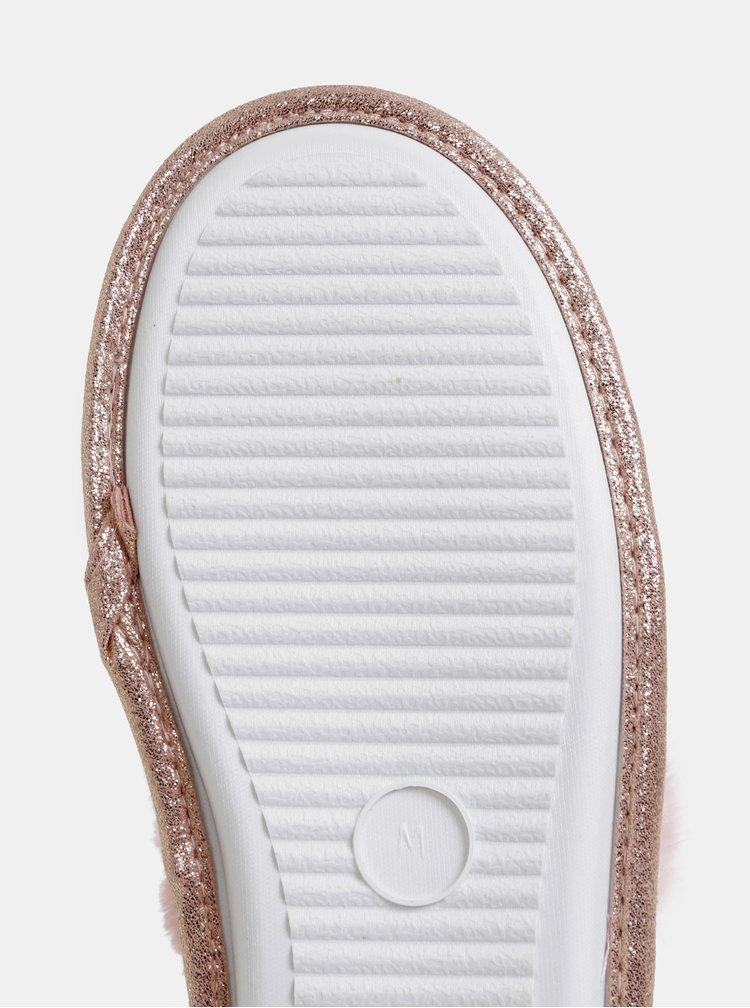 Růžové vzorované pantofle Dorothy Perkins