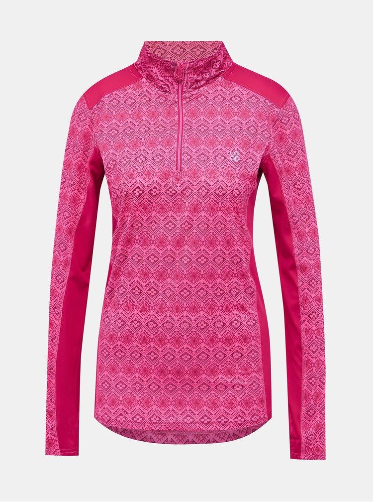 Růžové dámské vzorované termo tričko LOAP Patima