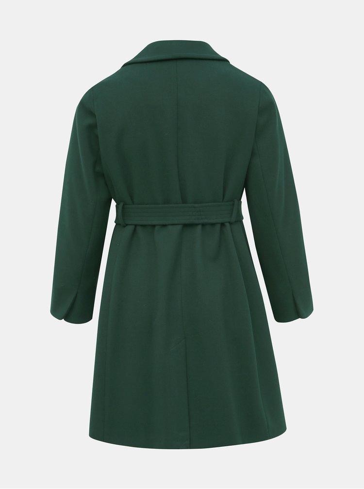 Tmavě zelený kabát Dorothy Perkins Curve