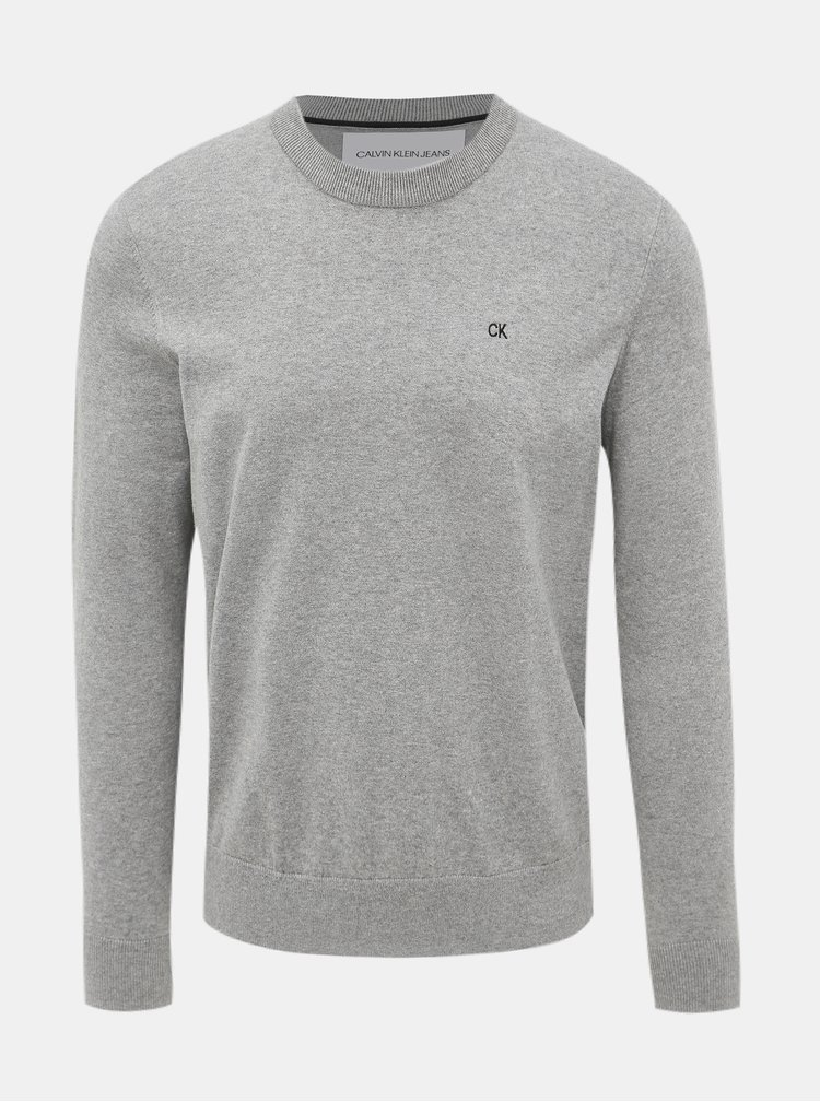 Šedý pansky basic sveter Calvin Klein Jeans