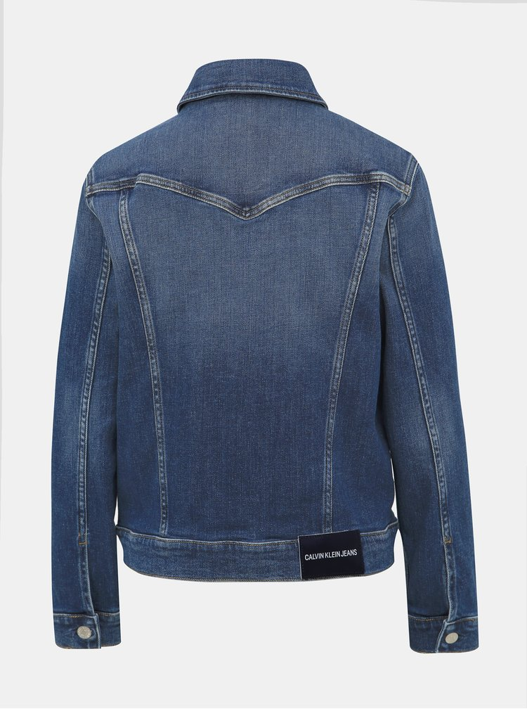 Modrá dámska rifľová bunda Calvin Klein Jeans