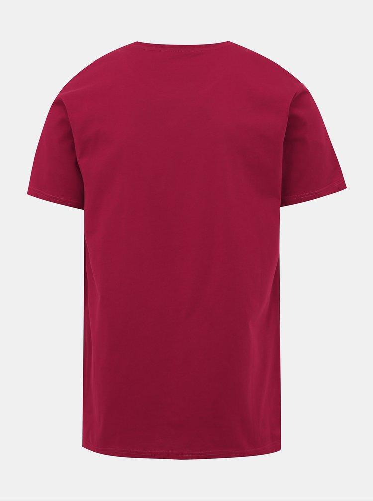 Červené pánské tričko s potiskem Horsefeathers Brush