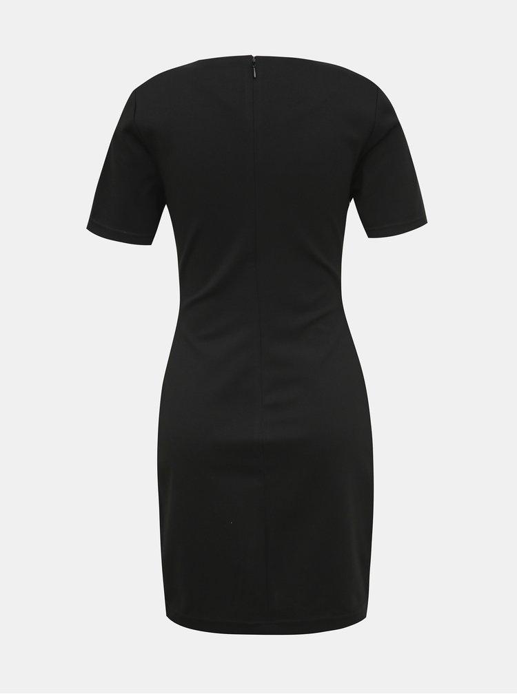 Černé pouzdrové šaty s lampasem Calvin Klein Jeans