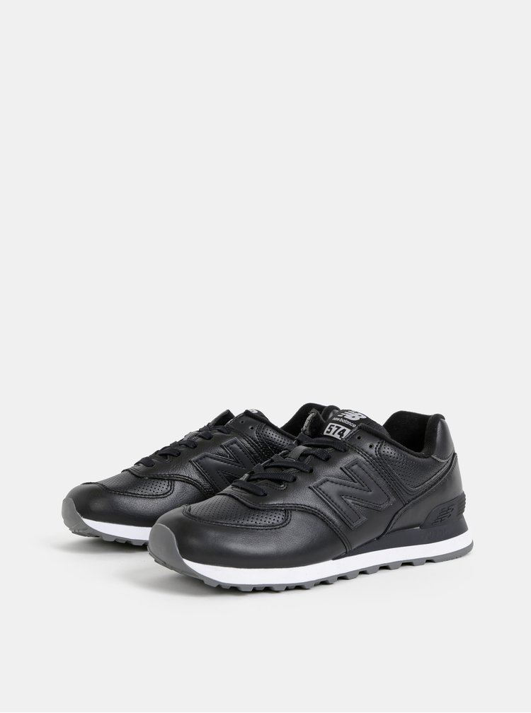 Čierne pánske kožené tenisky New Balance 574