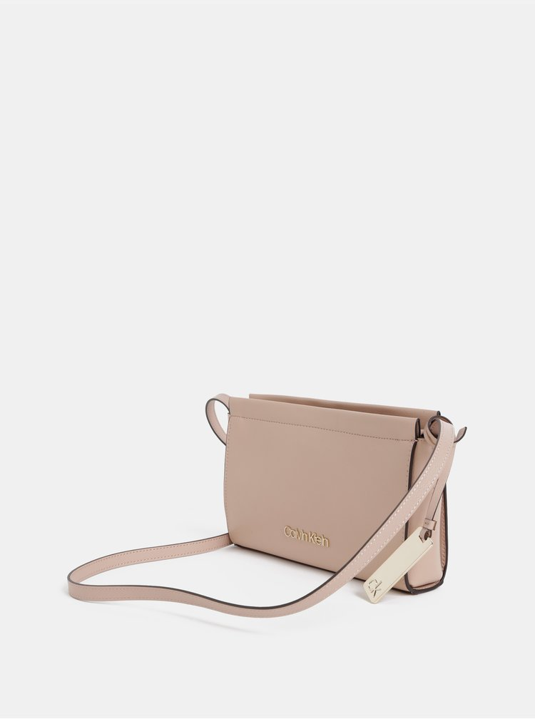 Světle růžová crossbody kabelka Calvin Klein Jeans