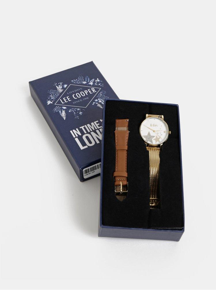 Dámské hodinky s kovovým páskem ve zlaté barvě Lee Cooper
