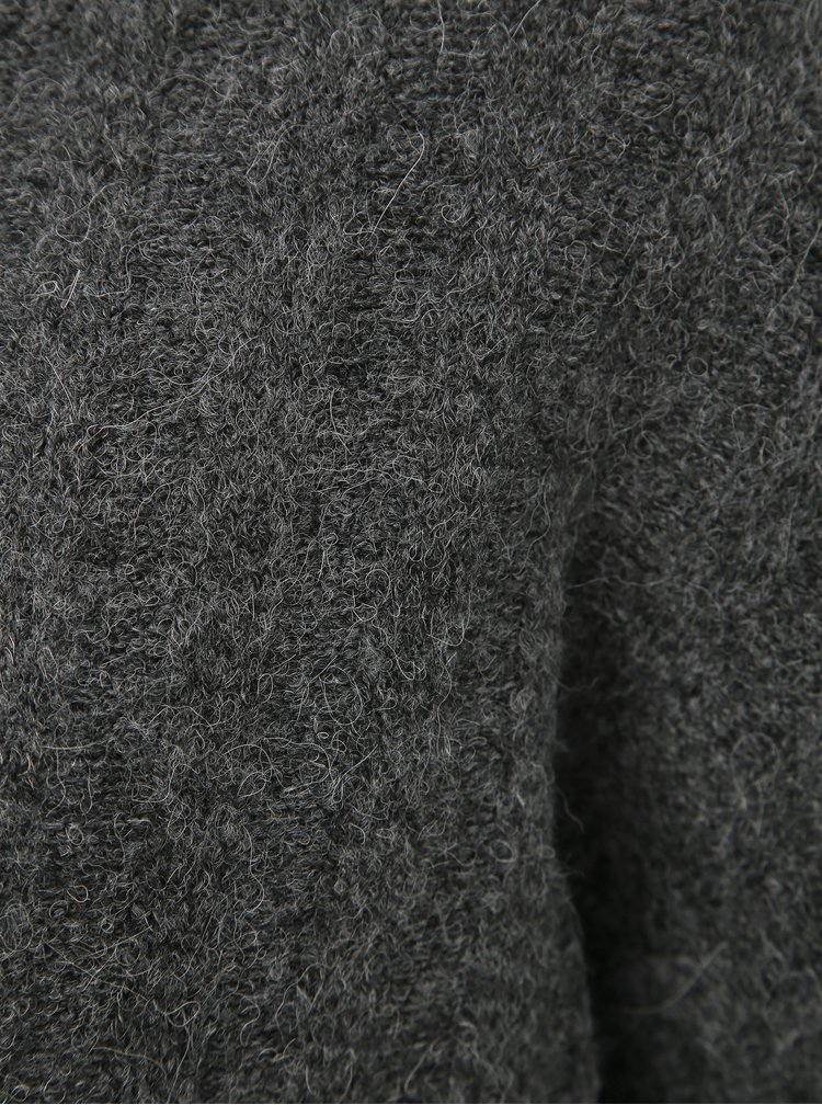 Tmavě šedý svetr s přímesí vlny Jacqueline de Yong Nine