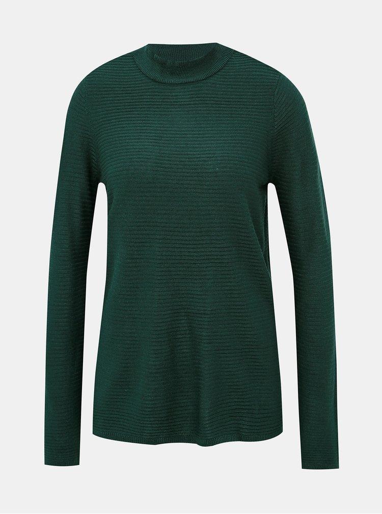 Tmavozelený sveter so stojáčikom VERO MODA Bobbie
