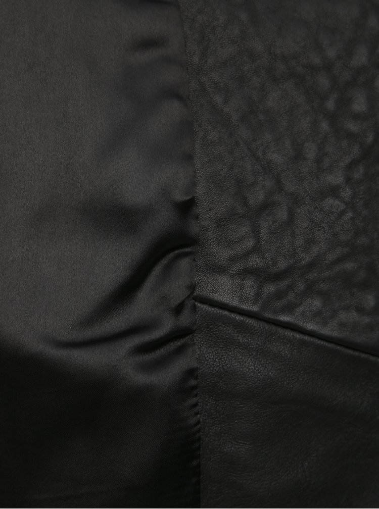 Černý kožený křivák Noisy May Eddard