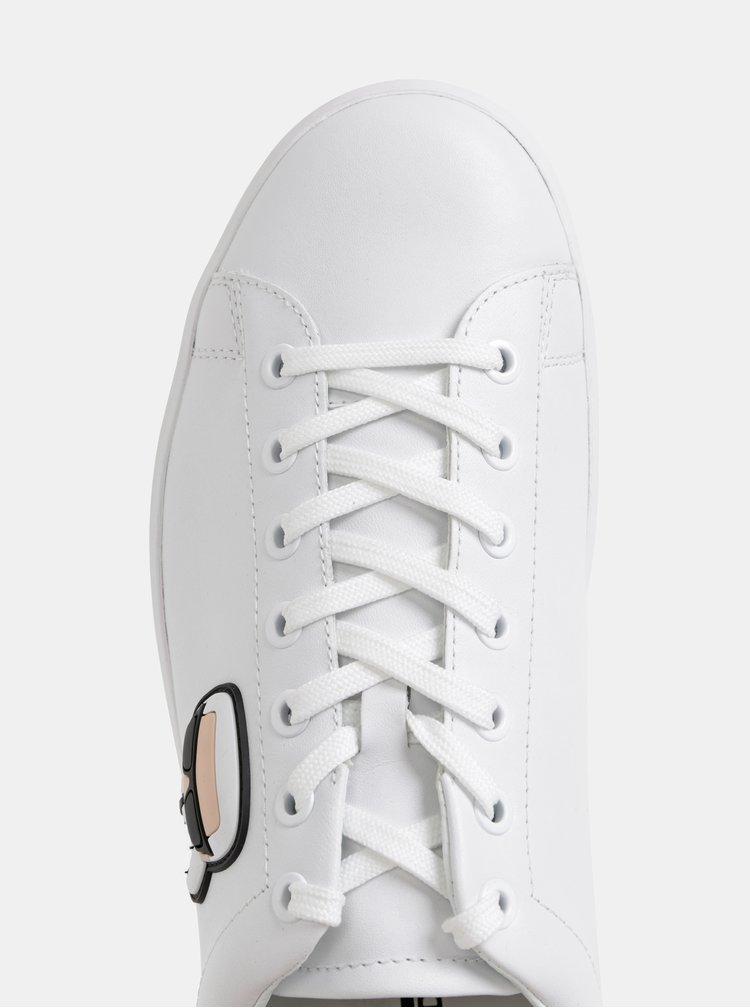 Bílé pánské kožené tenisky KARL LAGERFELD Kourt