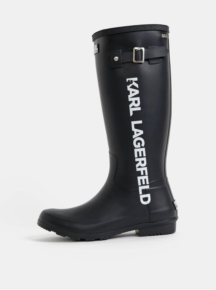 Černé dámské holínky KARL LAGERFELD Kalosh