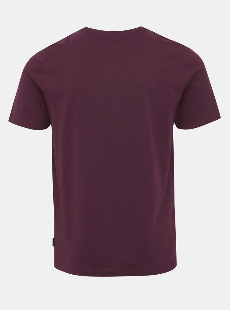 Vínové tričko s potiskem ONLY & SONS Alec