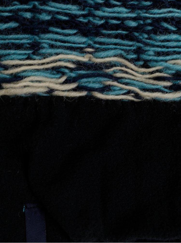 Tmavě modrá vlněná vzorovaná čepice Tranquillo Isla