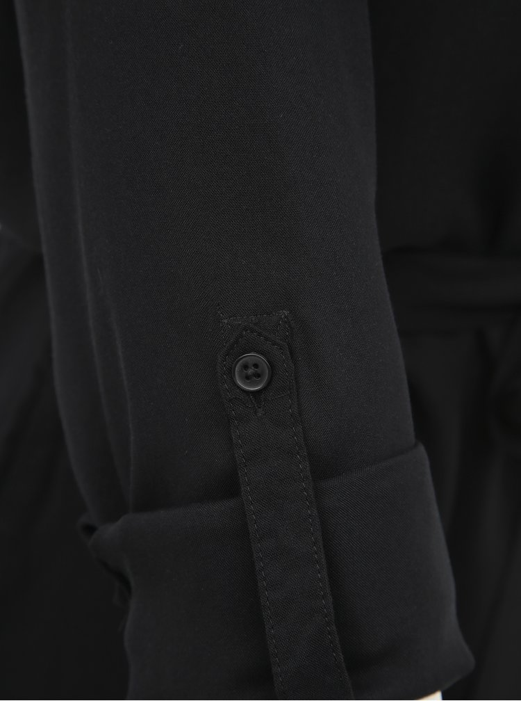 Čierne košeľové šaty Haily´s Sarina