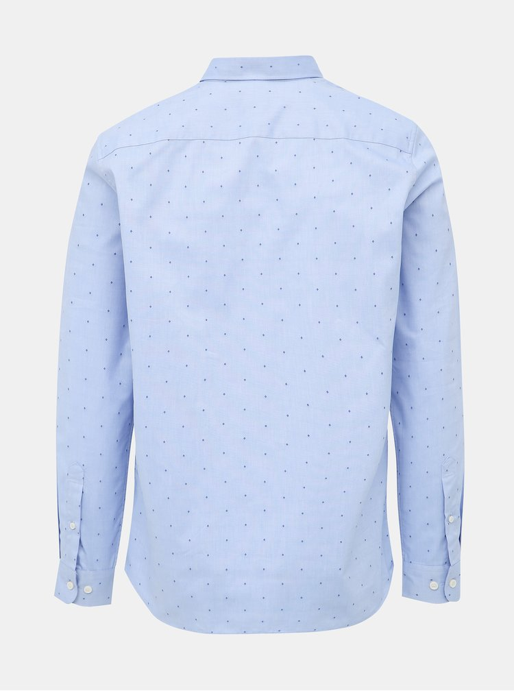 Svetlomodrá regular fit košeľa s drobným vzorom Selected Homme Regpen