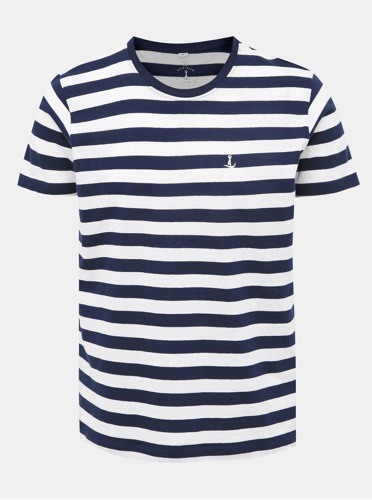 Bílo-modré pruhované tričko Mr. Sailor