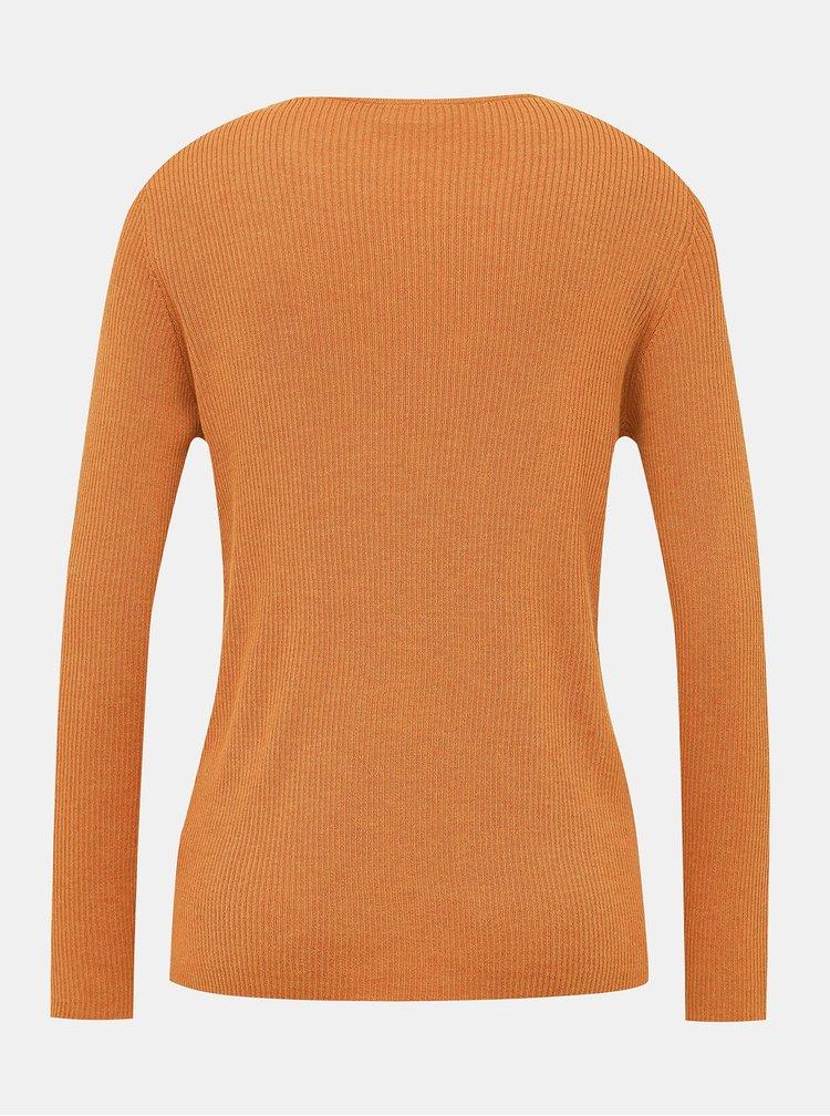 Oranžový basic sveter VILA Wendis