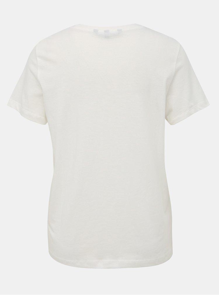 Biele tričko s potlačou VERO MODA Eddy