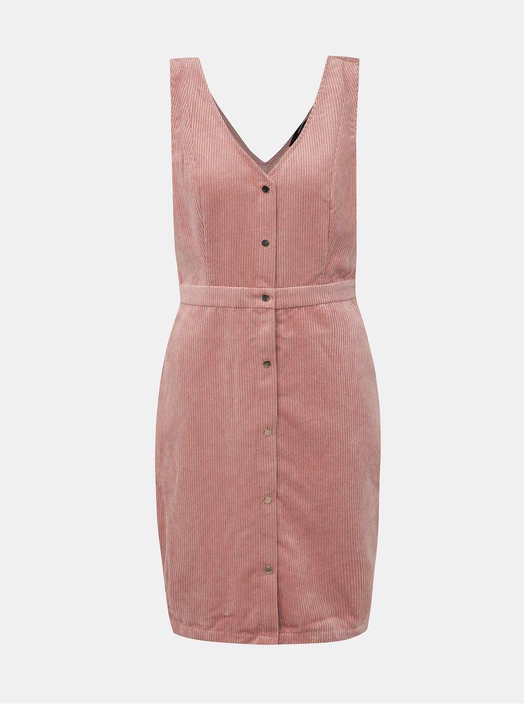 Růžové manšestrové šaty VERO MODA Ayoe