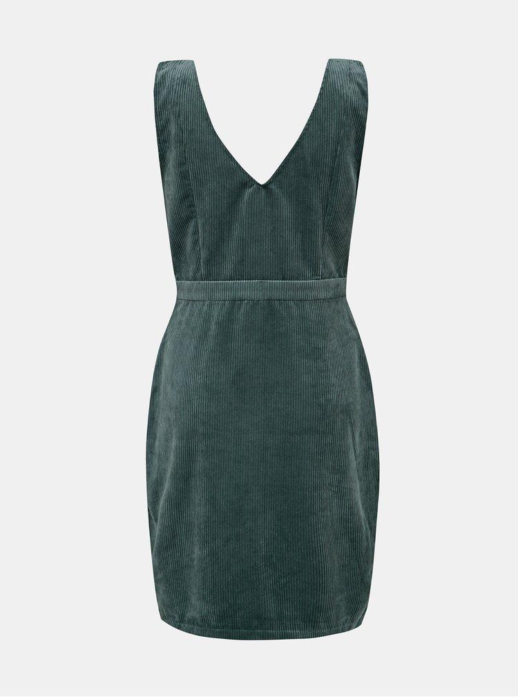 Modré menčestrové šaty VERO MODA Ayoe