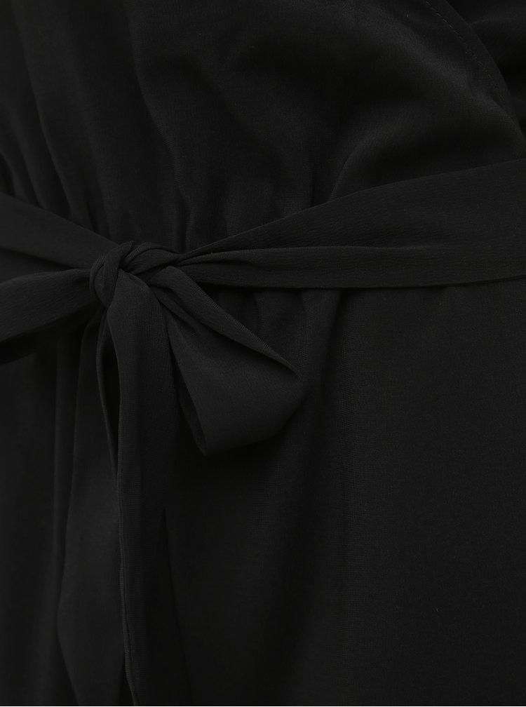Černý overal s krajkou VERO MODA Riley