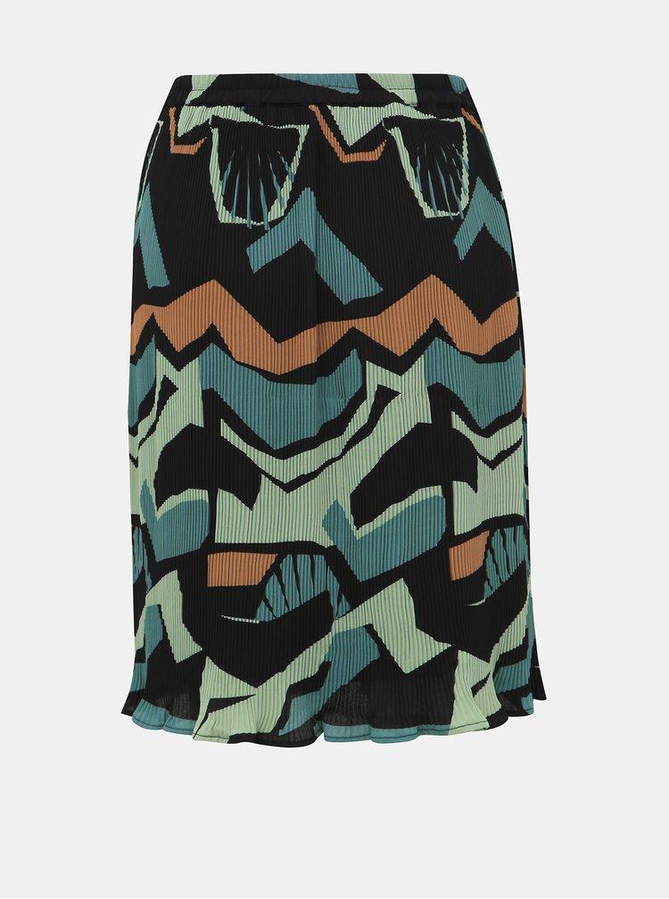 Modrá plisovaná sukně VERO MODA Afina