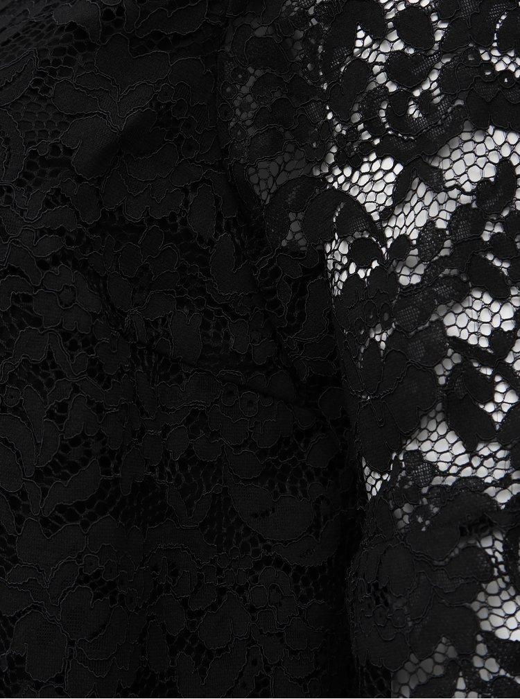 Čierna krajková blúzka Zizzi Nellie
