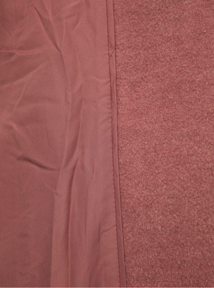 Starorůžový kabát s příměsí vlny Zizzi Yolanda
