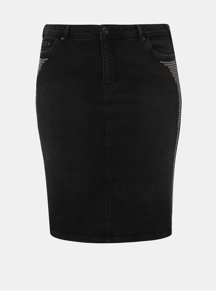 Tmavošedá rifľová púzdrová sukňa Zizzi Minsk