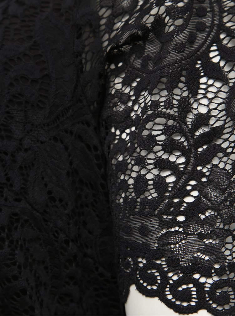 Čierne krajkové šaty Zizzi Noemi