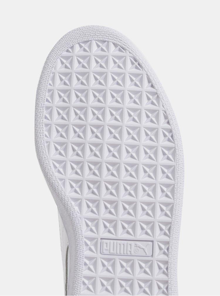Bílé dámské kožené tenisky Puma Basket Crush