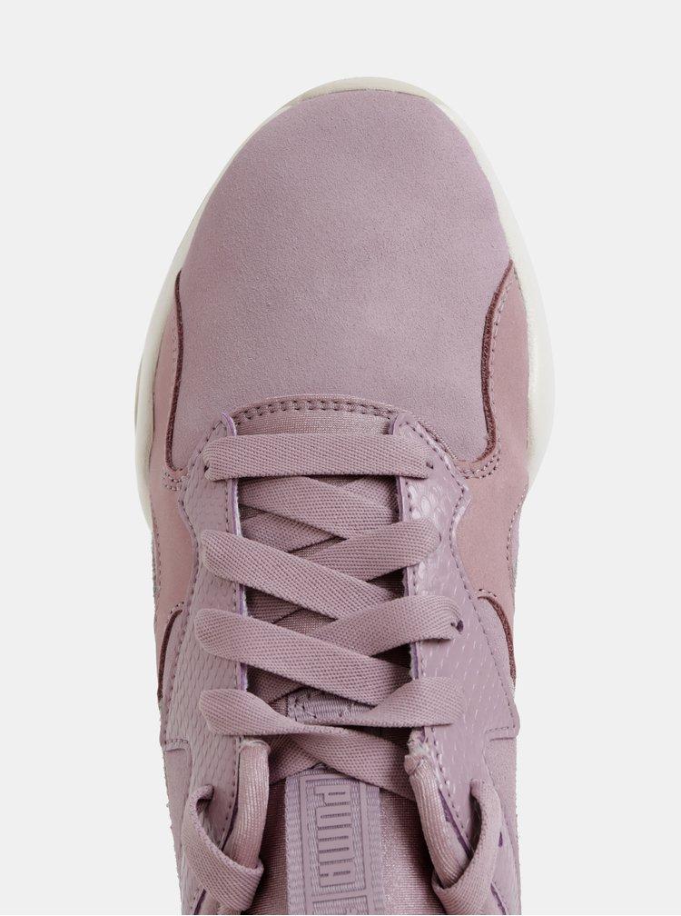 Světle fialové dámské semišové tenisky Puma Nova Pastel
